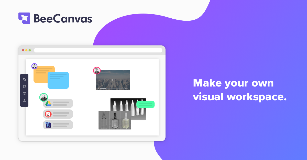Visual workspace for creative teamwork | BeeCanvas